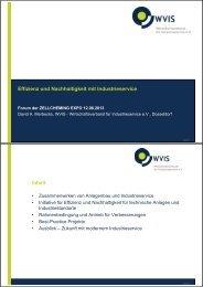 Effizienz und Nachhaltigkeit mit Industrieservice Inhalt - WVIS ...