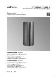 Datos técnicos Vitocell 340-M y 360-M1.1 MB - Viessmann