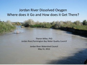 Jordan River Dissolved Oxygen Where does it Go and How does it ...