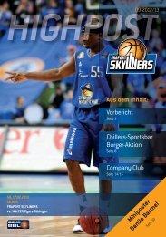 Vorbericht Company Club Chillers-Sportsbar ... - Fraport Skyliners
