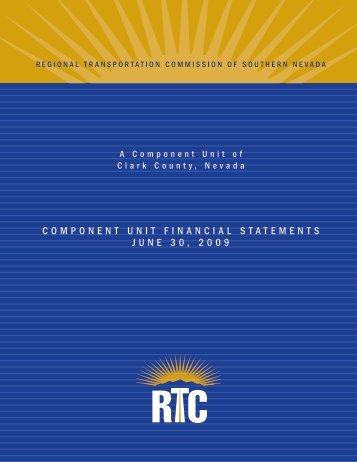 2009 Component Unit Financial Statements - Regional ...