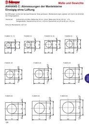 Maße und Gewichte ANHANG C: Abmessungen der Mantelsteine ...