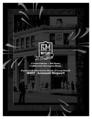 Farmers & Merchants Bank of LB 2007 Annual Report