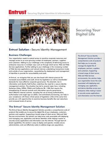 Entrust Solution – Secure Identity Management