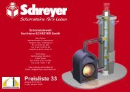 Preisliste 33 - Schornsteinwerk Schreyer GmbH