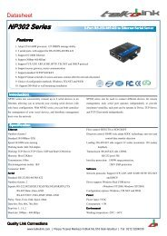 NP302 Series 2-Port RS-232/485/422 to Ethernet Serial ... - Telkolink