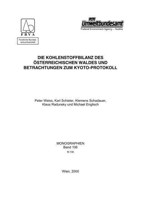 Kohlenstoffbilanz des österreichischen Waldes - Umweltbundesamt