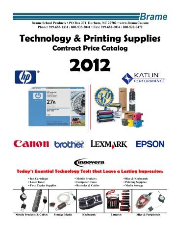 Exceptionnel Technology U0026 Printing Supplies   Brame School U0026 Office Products