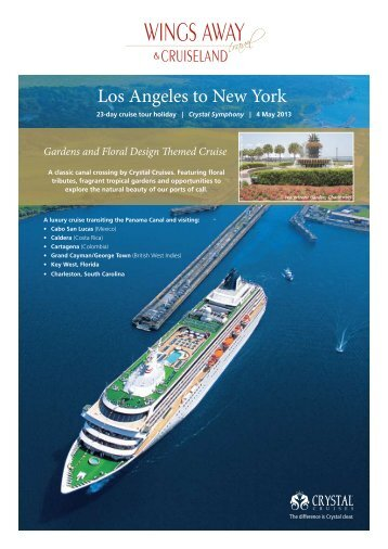 Los Angeles to New York - Wings Away Travel and Cruiseland