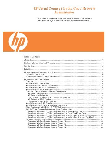 HP Virtual Connect for the Cisco Network ... - M. Sean McGee