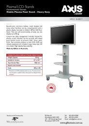 Heavy Duty Mobile Plasma Floor Stand - Gilkon Axis