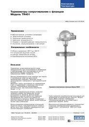 Термометры сопротивления с фланцем Модель TR401