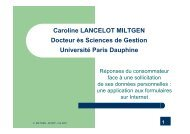presentation_C Lancelot Miltgen_AFCDP_mai07 - L'Afcdp