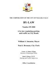 By-law No. 89-2000 - Niagara Falls, Ontario, Canada
