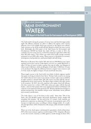 Water - Arab Forum for Environment and Development
