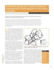 La profession agricole dans le système d'acteurs de l'aménagement ...