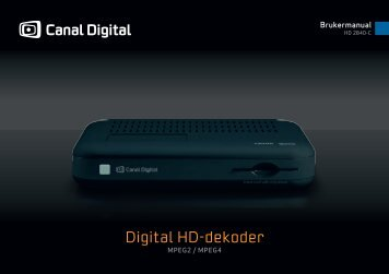 Brukerveiledning HD dekoder 2840C - Canal Digital Kabel-TV