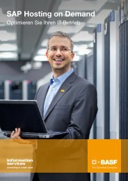 SAP Hosting on Demand - BASF IT Services