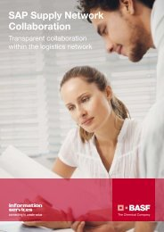 SAP Supply Network Collaboration - BASF IT Services