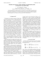 Dynamics of an electron in finite and infinite one-dimensional ...