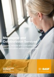 Messaging and Collaboration Services - BASF IT Services