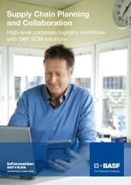 Supply Chain Planning and Collaboration - BASF IT Services