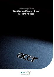 Meeting Agenda - Acer Group