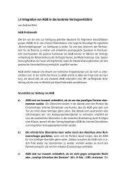 Integration der AGB in das konkrete Vertragsverhältnis - Simsa