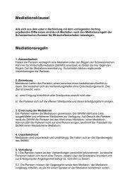 Mediation - Musterklausel - Simsa
