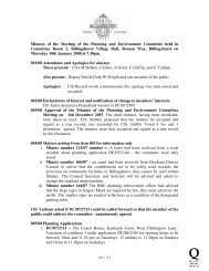 Minutes of the Meeting of the Planning and Environment Committee ...