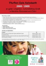 Membership Application Form 2008-9 OTHERScym.indd