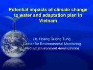Potential impacts of climate change to water and adaptation plan ...