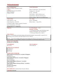 Final Prescribed Information 1. Non-Financial Information Name of ...