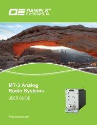 Daniels MT-3 Analog Radio Systems User Guide - Daniels Electronics