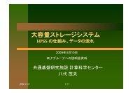 Overview of the HPSS at KEKCC - KEK研究情報Web