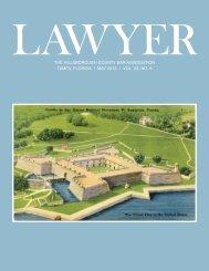 May 2013 Lawyer Magazine - Hillsborough County Bar Association