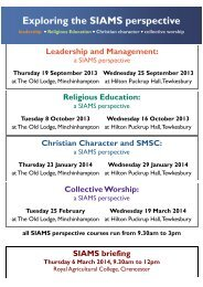SIAMS training - Diocese of Gloucester