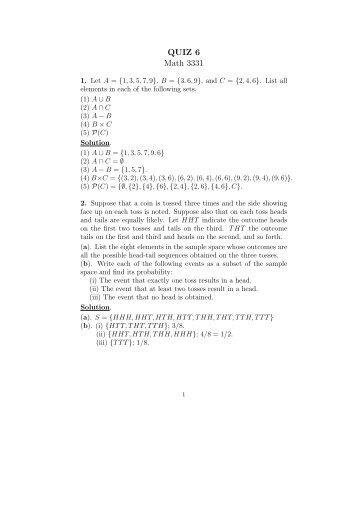 QUIZ 6 Math 3331 - the UHCL Math Department