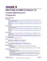 AS4 Profile of ebMS 3.0 Version 1.0 - OASIS Open Library