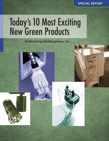 Today's 10 Most Exciting New Green Products
