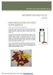 Food Supplements - Fact Sheet