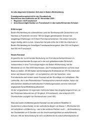 An alle allgemein bildenden Schulen in Baden-Württemberg ...