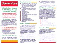 SoonerCare - The Oklahoma Health Care Authority
