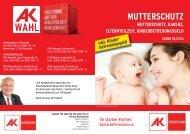 MUTTERSCHUTZ - AK Burgenland - Arbeiterkammer