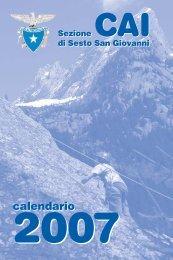 Agendina 2007 - CAI - sezione di Sesto San Giovanni