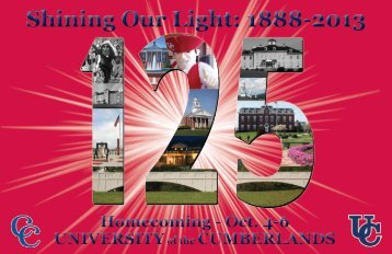 Shining Our Light: 1888-2013 - University of the Cumberlands