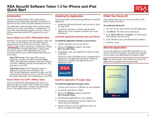 RSA SecurID Software Token 1 3 for iPhone and iPad - NCSA Wiki
