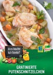 GRATINIERTE PUTENSCHNITZELCHEN - bei Knorr