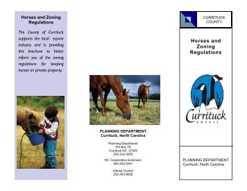 Horse Brochure.pub - Currituck County Government