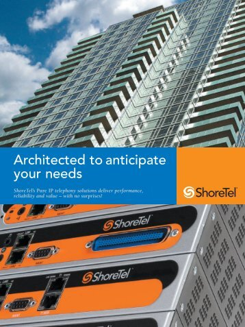 ShoreTel Corporate Brochure - Starnet Data Design, Inc